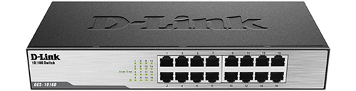 Switch D-Link DES 1016D 16‑Port Fast Ethernet