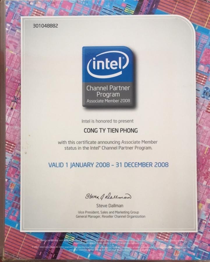 Partner Gold INTEL từ năm 2008.